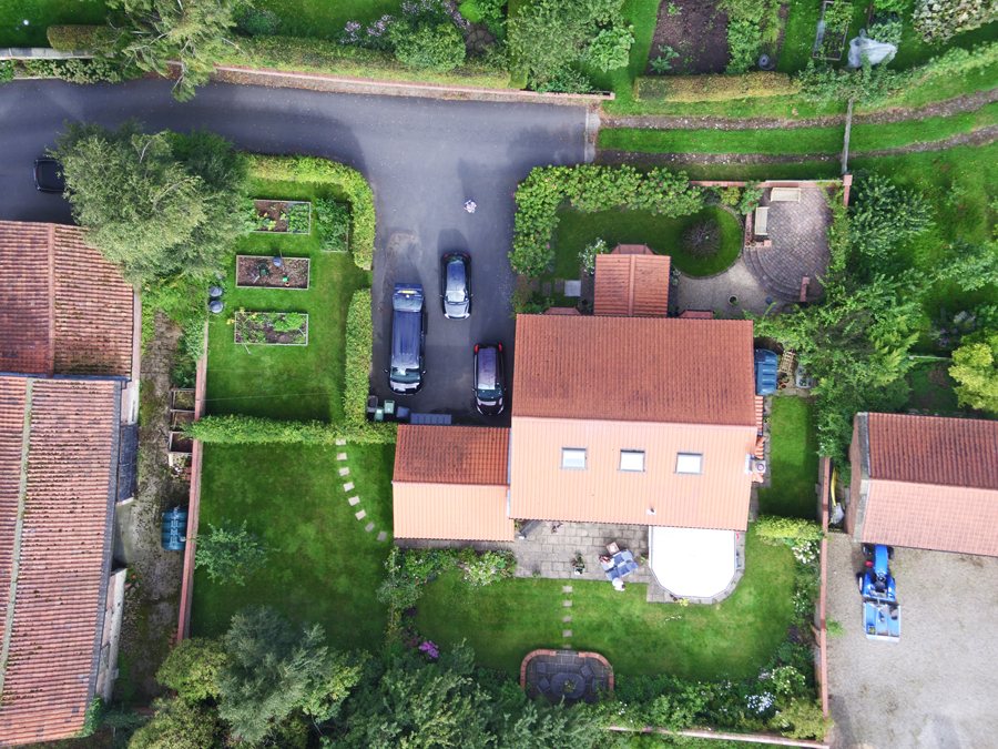 Drone photography services from High Vision showing an aerial image